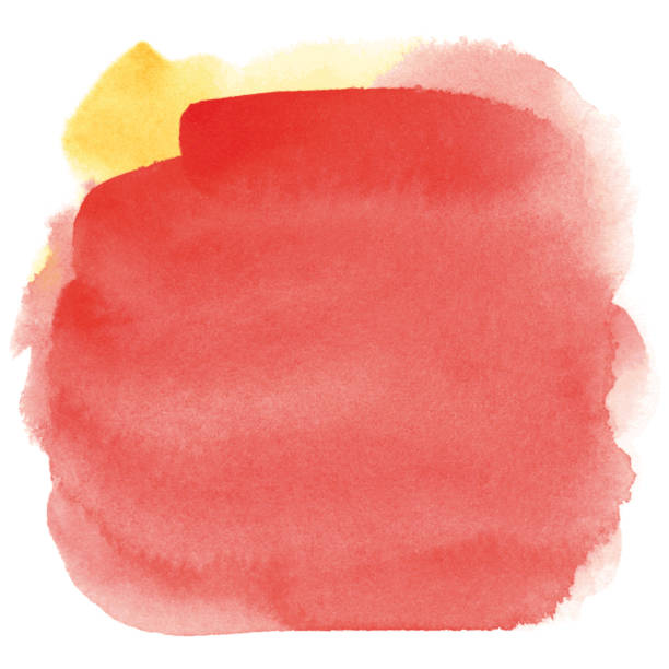Red watercolor background vector art illustration