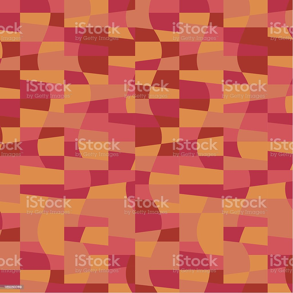 Red Wave pattern royalty-free stock vector art