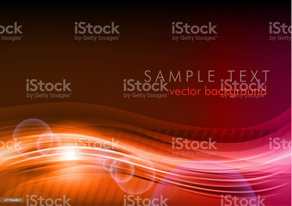 red wave royalty-free stock vector art