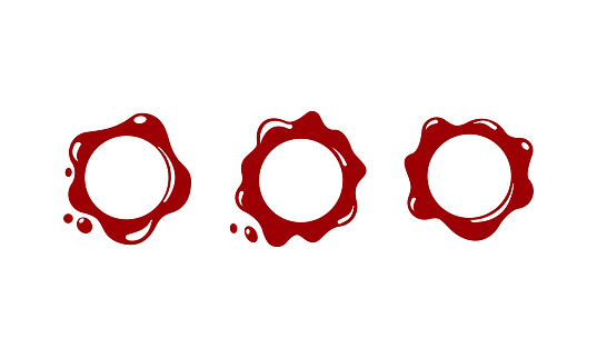 Red wax seal icon. Stamp. Vector on isolated white background. EPS 10