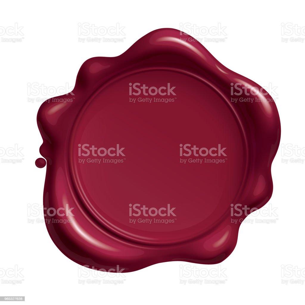 Rotes Wachs Siegel isoliert auf weißem Hintergrund – Vektorgrafik