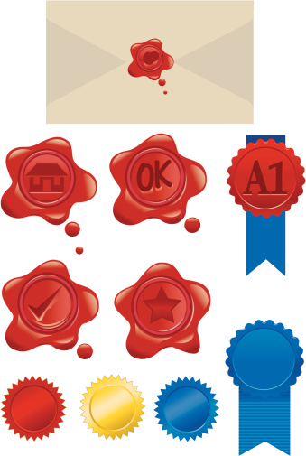 Red Wax Seals and Ribbons