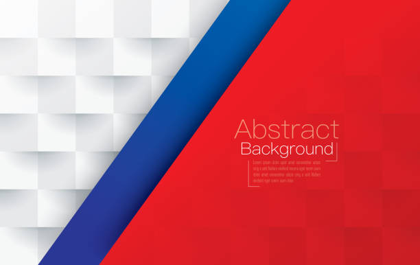 Red White And Blue Abstract Background Vector Stock