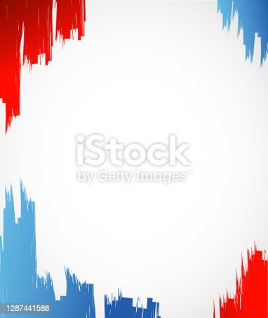 istock Red, white and blue ink illustration design 1287441588