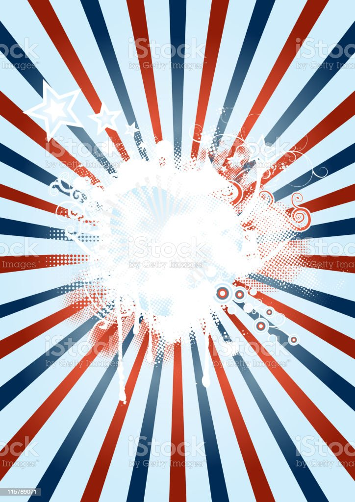 red white and blue starburst design stock vector art more images
