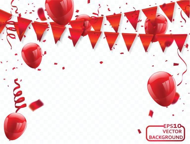 Best Red Balloon Illustrations Royalty Free Vector