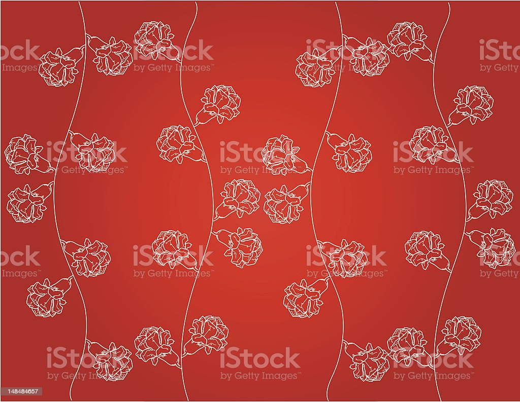 Red White Floral Background Royalty Free Stock Vector Art Amp