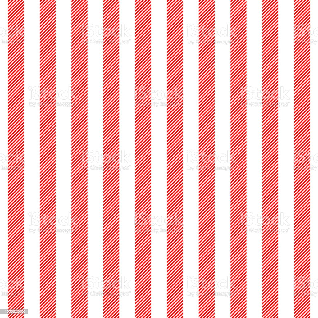Red White Striped Fabric Texture Seamless Pattern Stock Vector Art