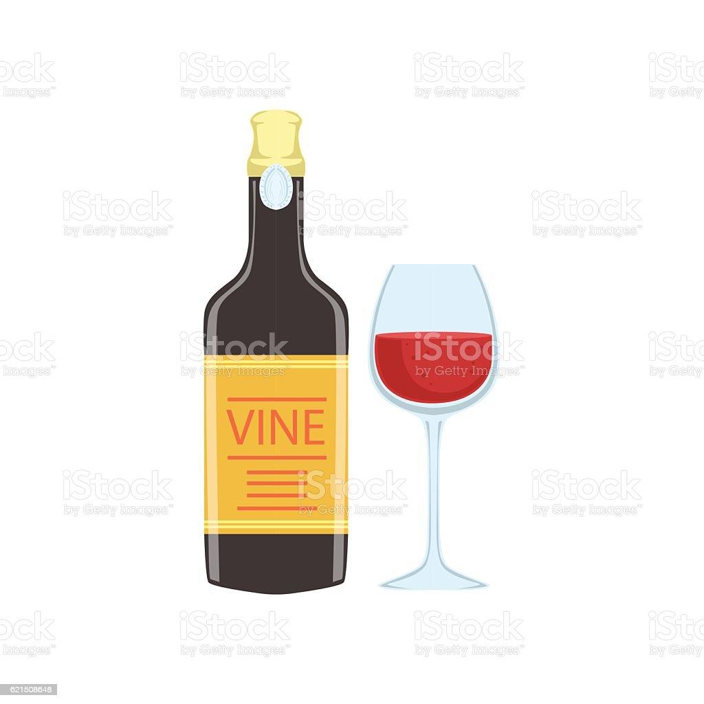 Red Wine Bottle And Glass Portuguese Famous Symbol red wine bottle and glass portuguese famous symbol – cliparts vectoriels et plus d'images de alcoolisme libre de droits