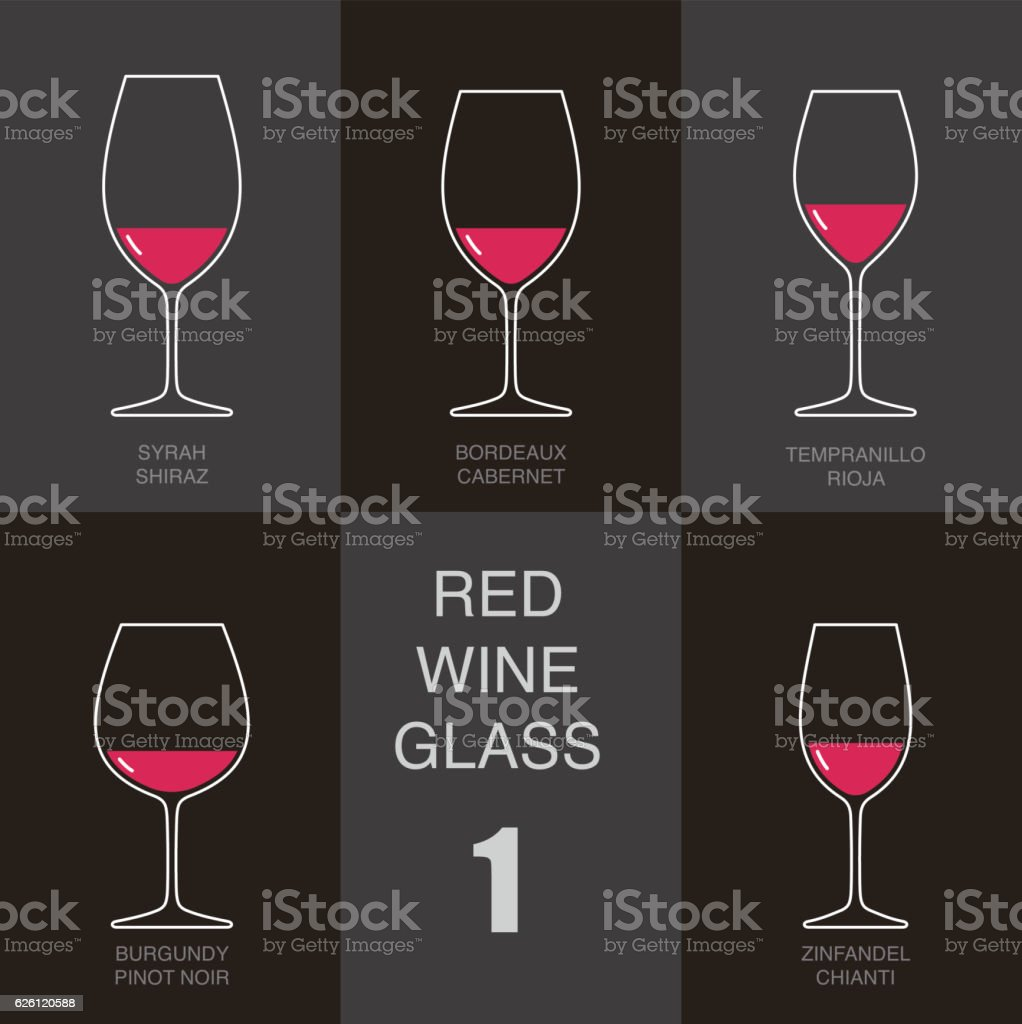 red wine glass cup flat icon design vector art illustration