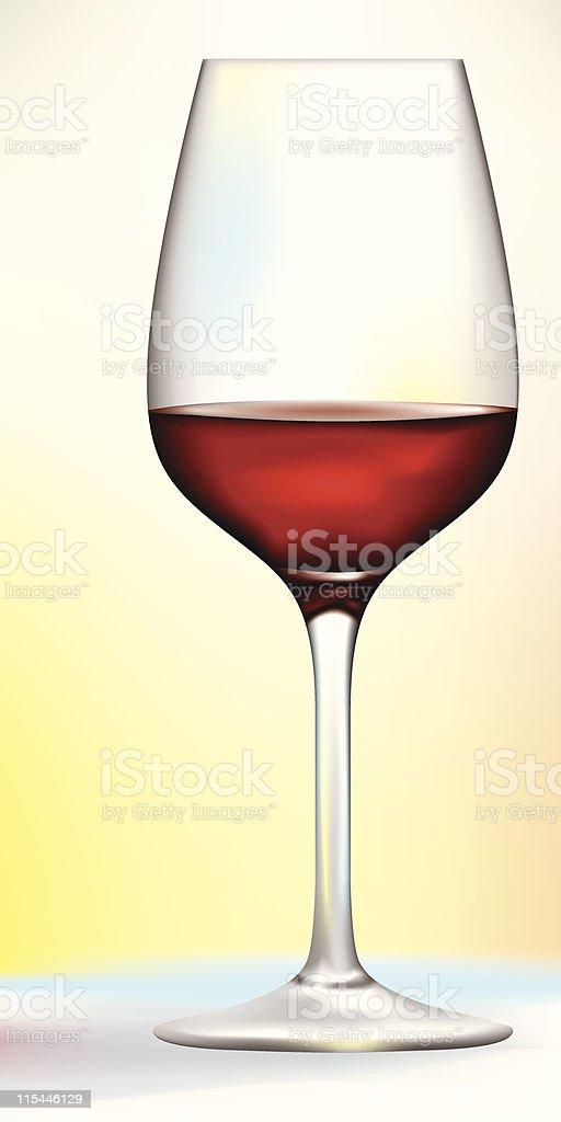 red wine glass vector art illustration