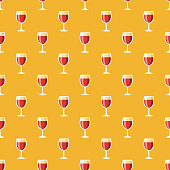 istock Red Wine Hanukkah Seamless Pattern 1045053872