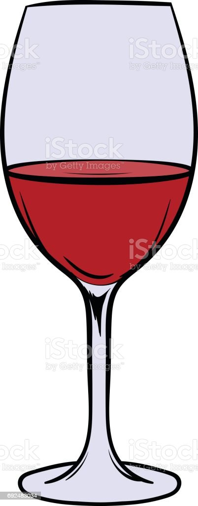 red wine in glass icon cartoon stock vector art more images of rh istockphoto com giant wine glass cartoon wine glass cartoon pic