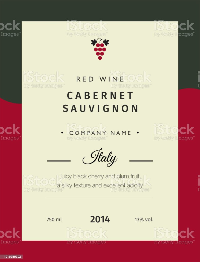 Red Wine Labels Vector Premium Template Set Clean And Modern Design