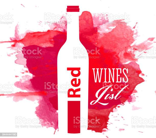 Red wine list cover with watercolor background vector id544444180?b=1&k=6&m=544444180&s=612x612&h=mf1jlscz eacpyyw xin7kgil9vvct6ug 3srdfg8ey=