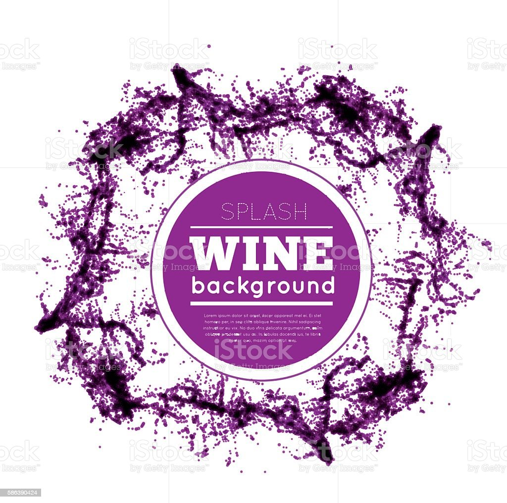 Red wine splash. vector art illustration