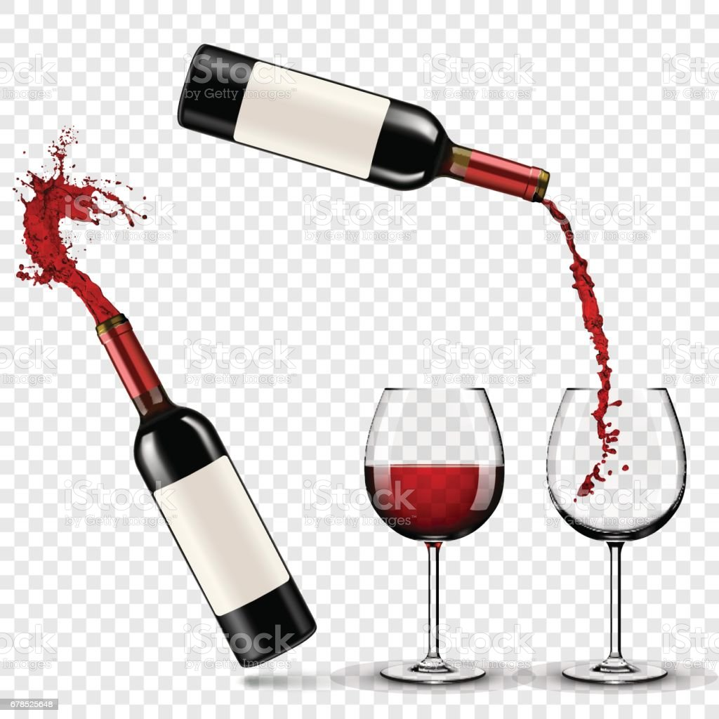 Red wine vector art illustration
