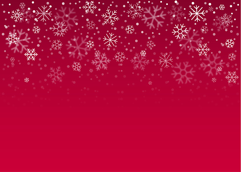 Vector illustration of winter snowflake vector background.