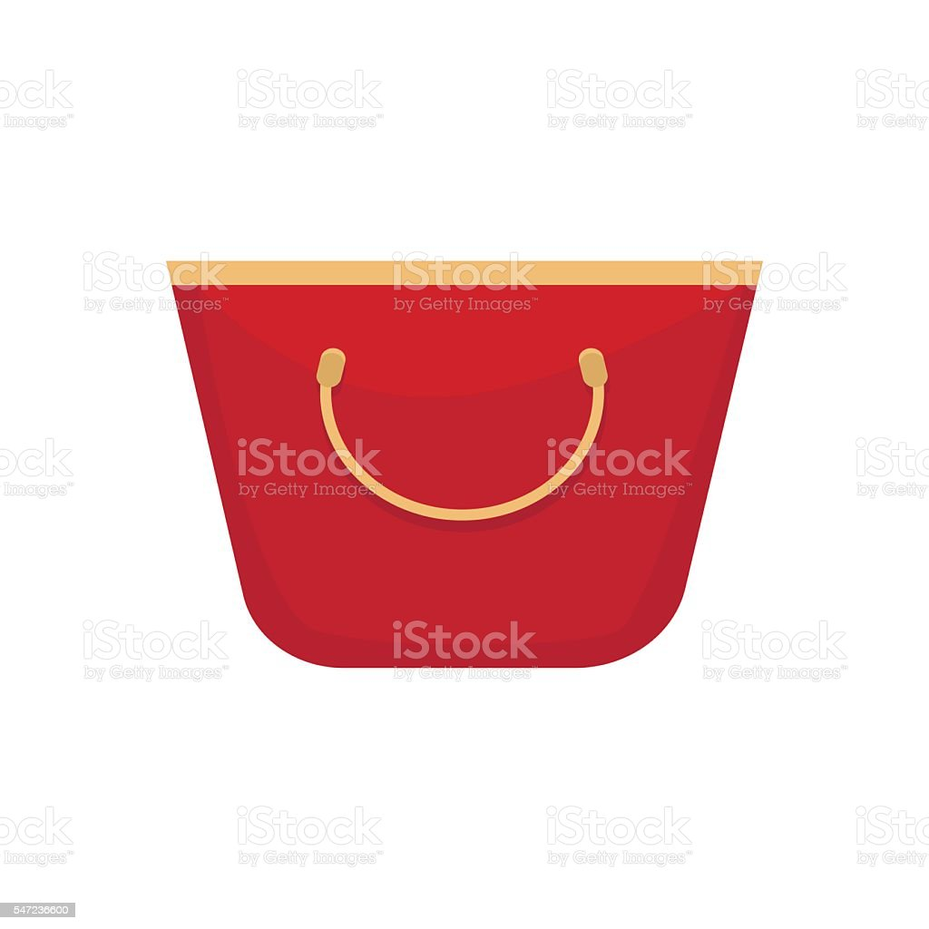 957b06dff0f61 Red Women Bag Isolated On White Background Vector Stock Vector Art ...