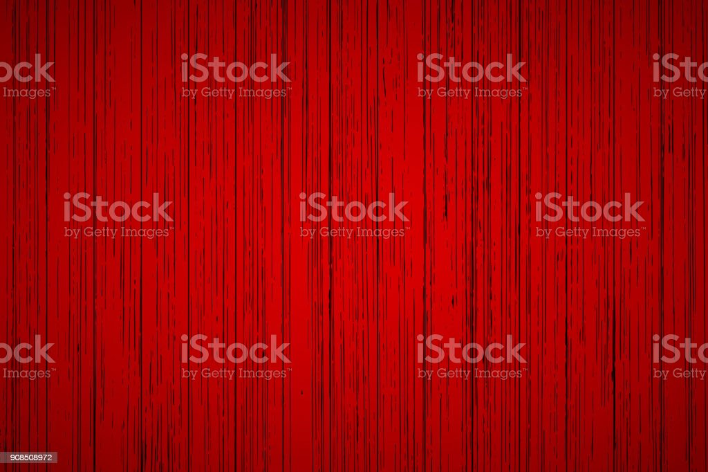 Red wood texture background vector art illustration