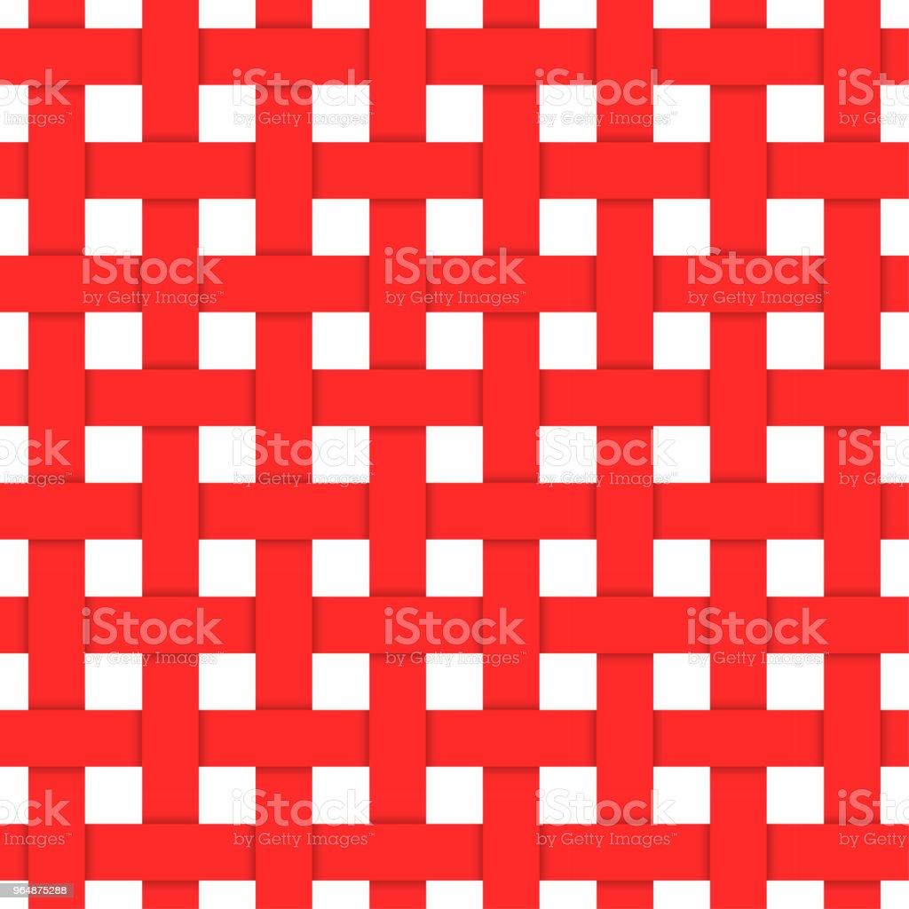 紅色編織纖維。無縫模式 - 免版稅傳統圖庫向量圖形