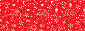Red Wrapping paper Christmas. Abstract Christmas wrapping paper for wrapping paper design. Seamless Christmas pattern with Santa Claus on red background. Christmas pattern wrapping paper. Red Christmas seamless pattern. Vector image