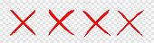 istock Red wrong mark. Vector illustration 1213639793
