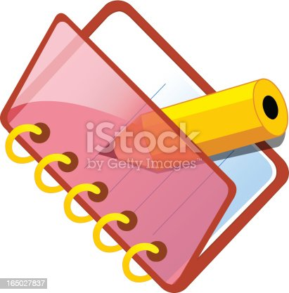 istock Red xp icon / notepad 165027837