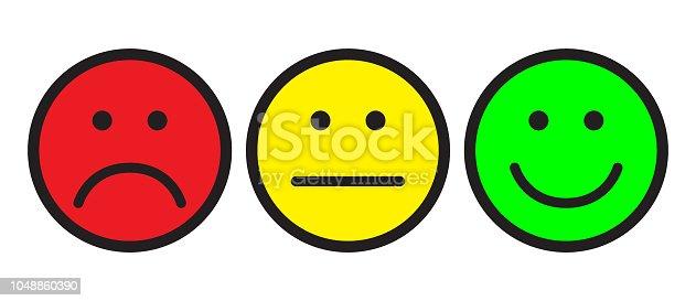ᐈ Imagen De Iconos De La Cara Feliz Y Triste Smileys