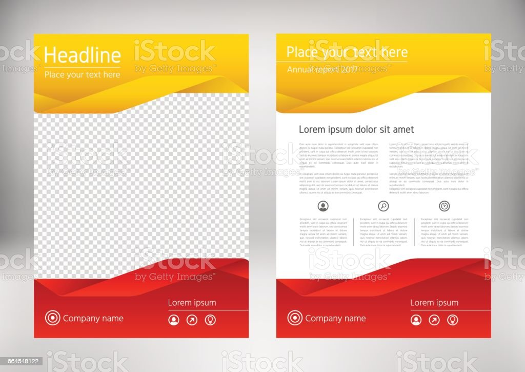 Red Yellow Annual Report Brochure Design Template Business Flyer