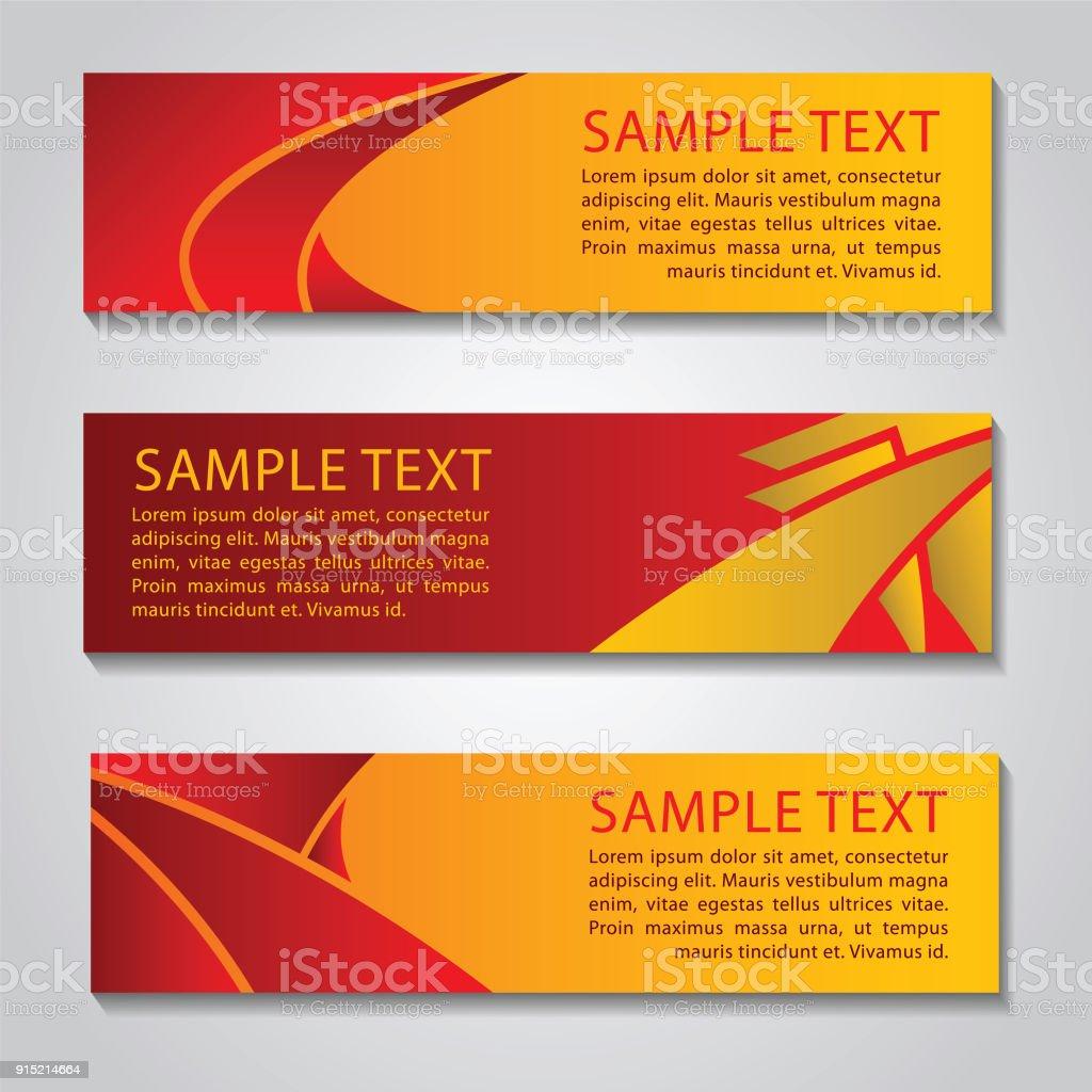 Rot Gelb Farbe Banner Für Website Design Und Passen Sich An