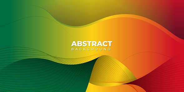 Red yellow green abstract background