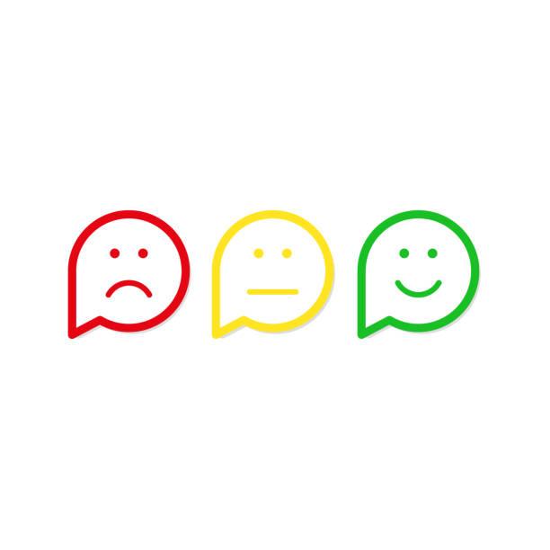 illustrazioni stock, clip art, cartoni animati e icone di tendenza di red, yellow, green smile vector icon flat design - beige