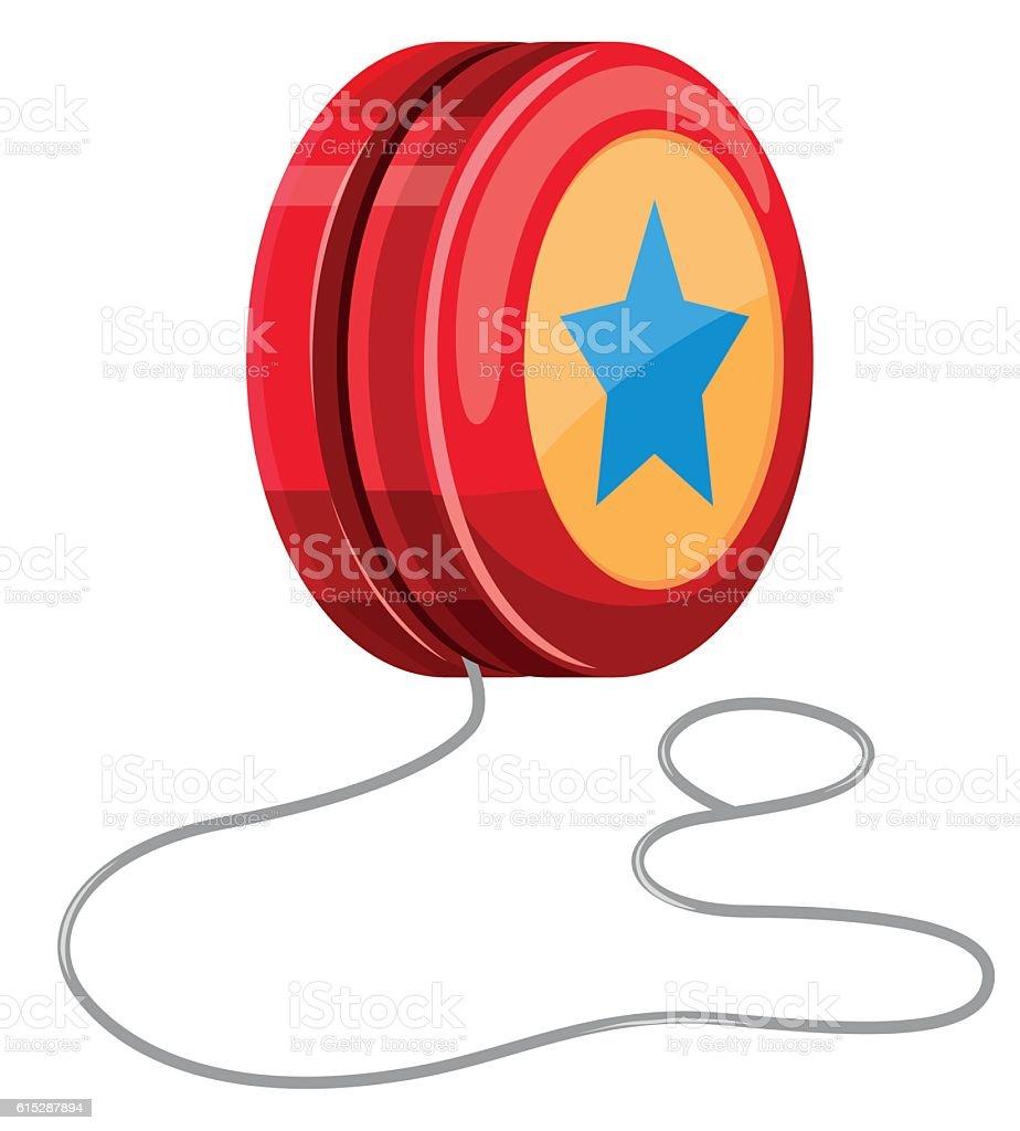 Red yo-yo with white string