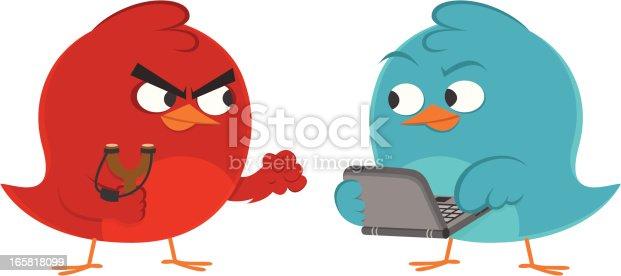 istock Redbird vs Bluebird 165818099