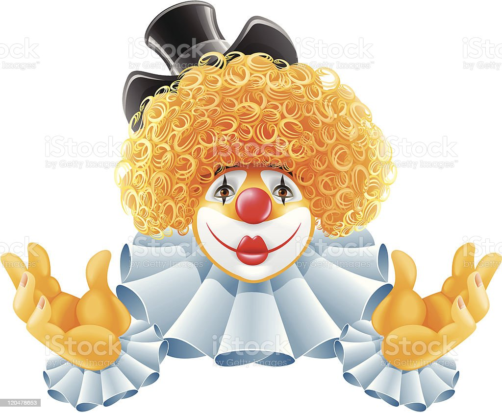 red-haired smiling clown royalty-free redhaired smiling clown stock vector art & more images of actor