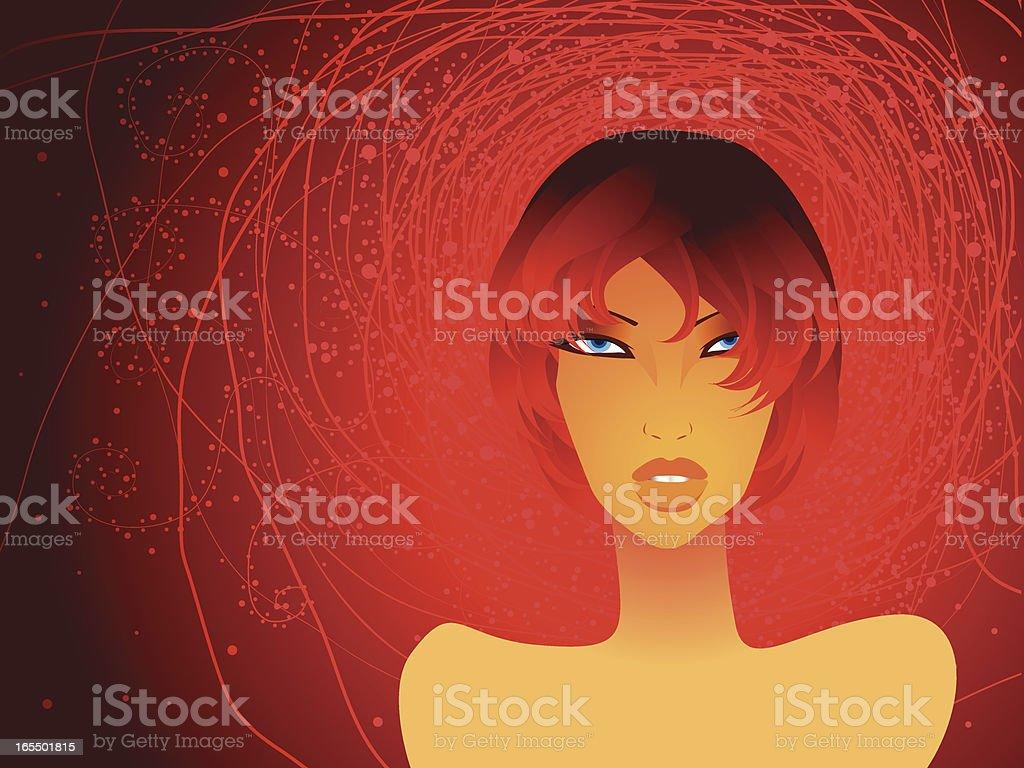 Redhead royalty-free stock vector art