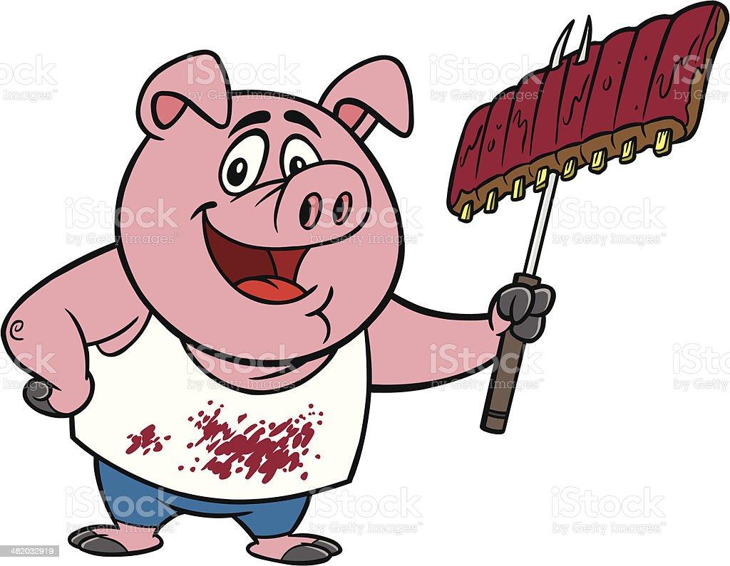 Redneck BBQ vector art illustration