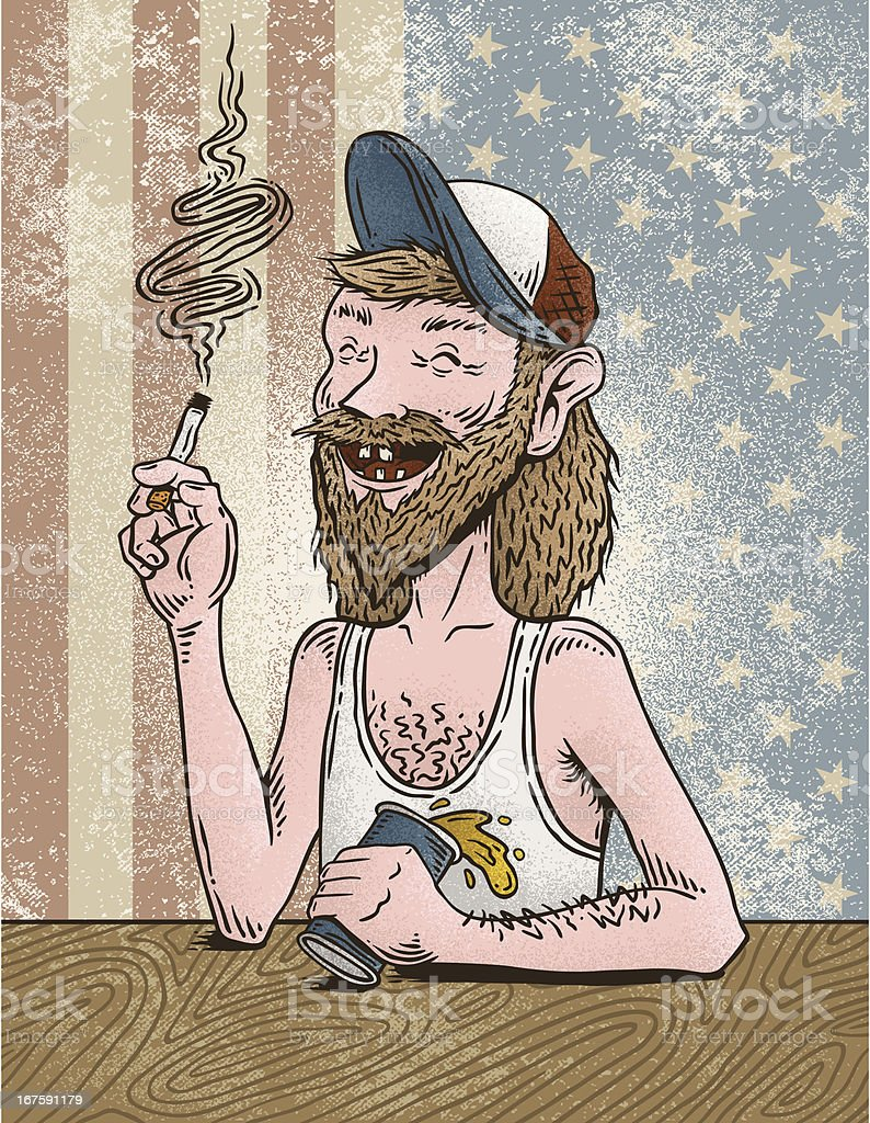 Redneck Joe royalty-free stock vector art