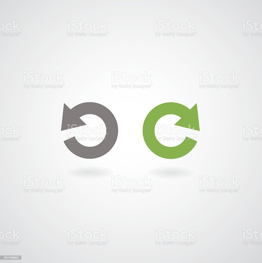redo and undo symbol vector art illustration