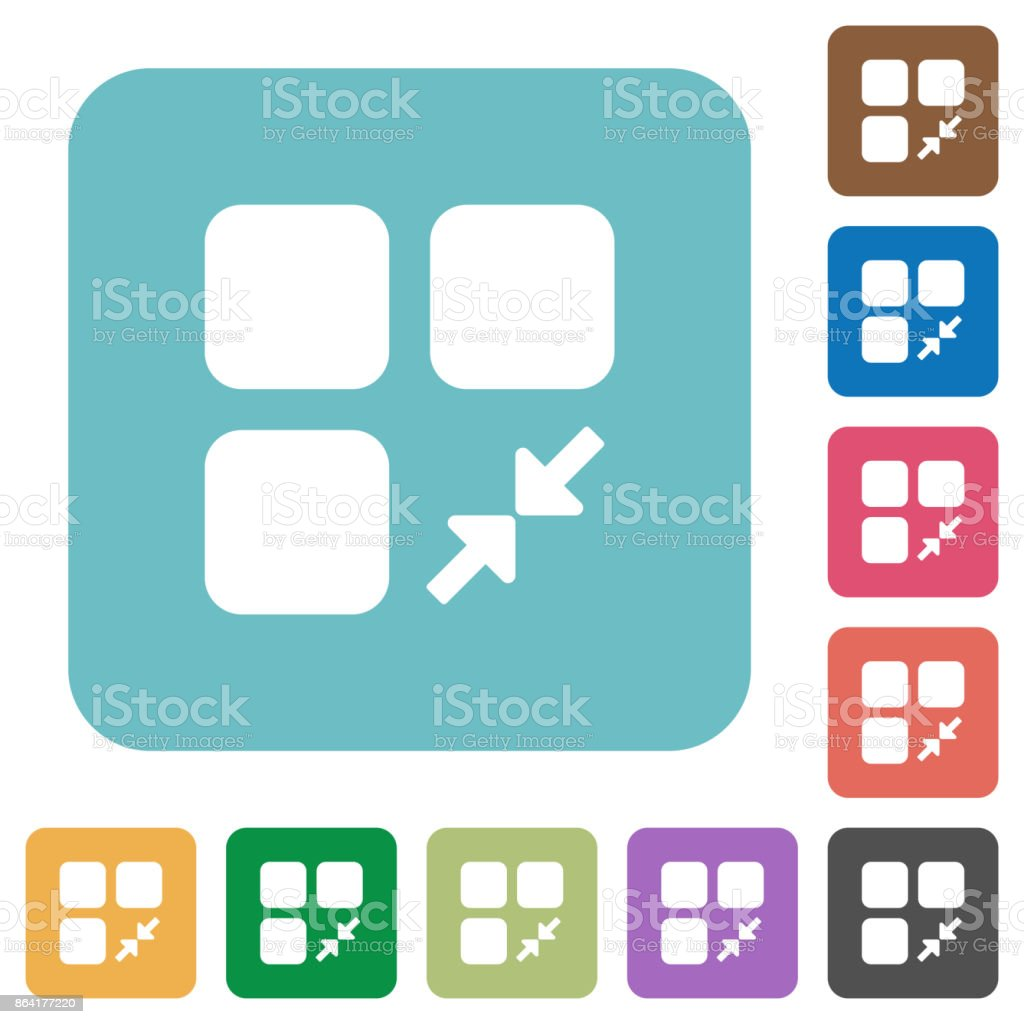 Reduce component rounded square flat icons royalty-free reduce component rounded square flat icons stock vector art & more images of applying