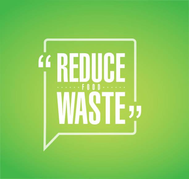 bildbanksillustrationer, clip art samt tecknat material och ikoner med minska matsvinnet linje offert meddelande - food waste