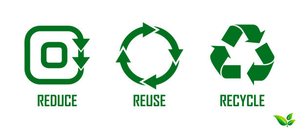 reduce reuse recycle concept. - recycling stock illustrations