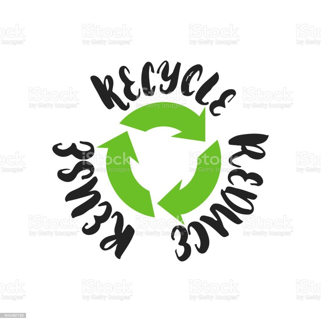 Ilustración De Reducir Reutilizar Reciclar Mano Dibujado