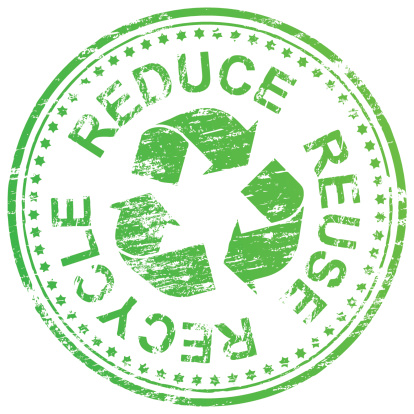 Reduce Reuse Recycle Stamp