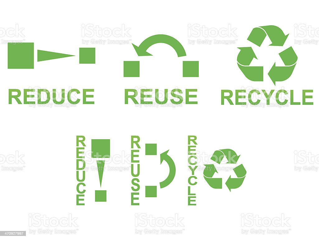 Reduce Reuse Recycle Royalty Free Stock Vector Art Amp More Images