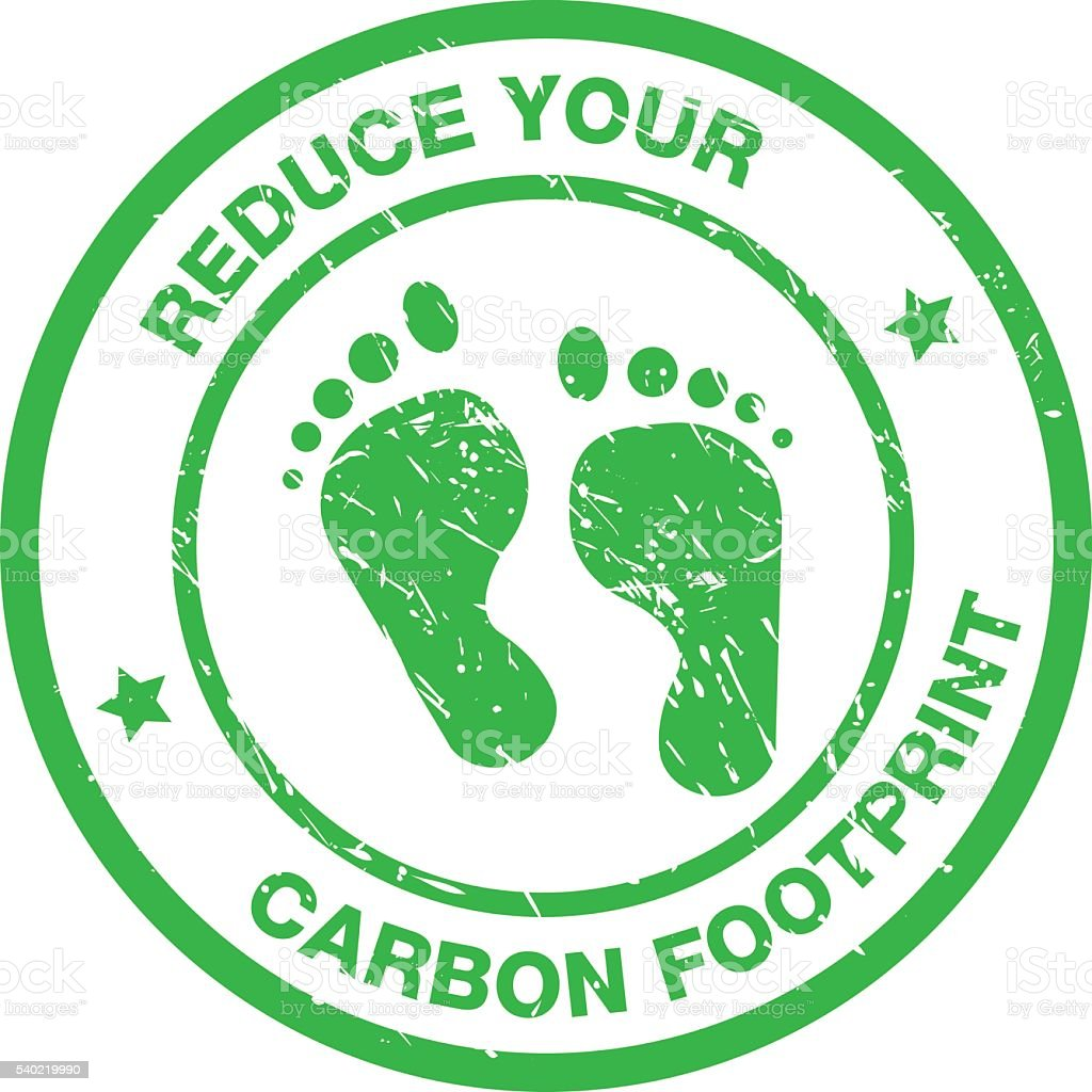 Reduce Your Carbon Footprint Stock Vector Art & More ...