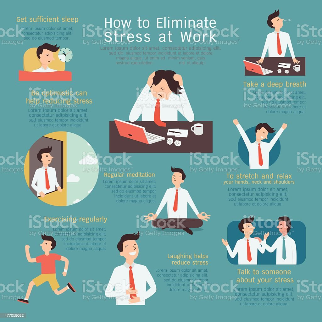 Reducing stress vector art illustration