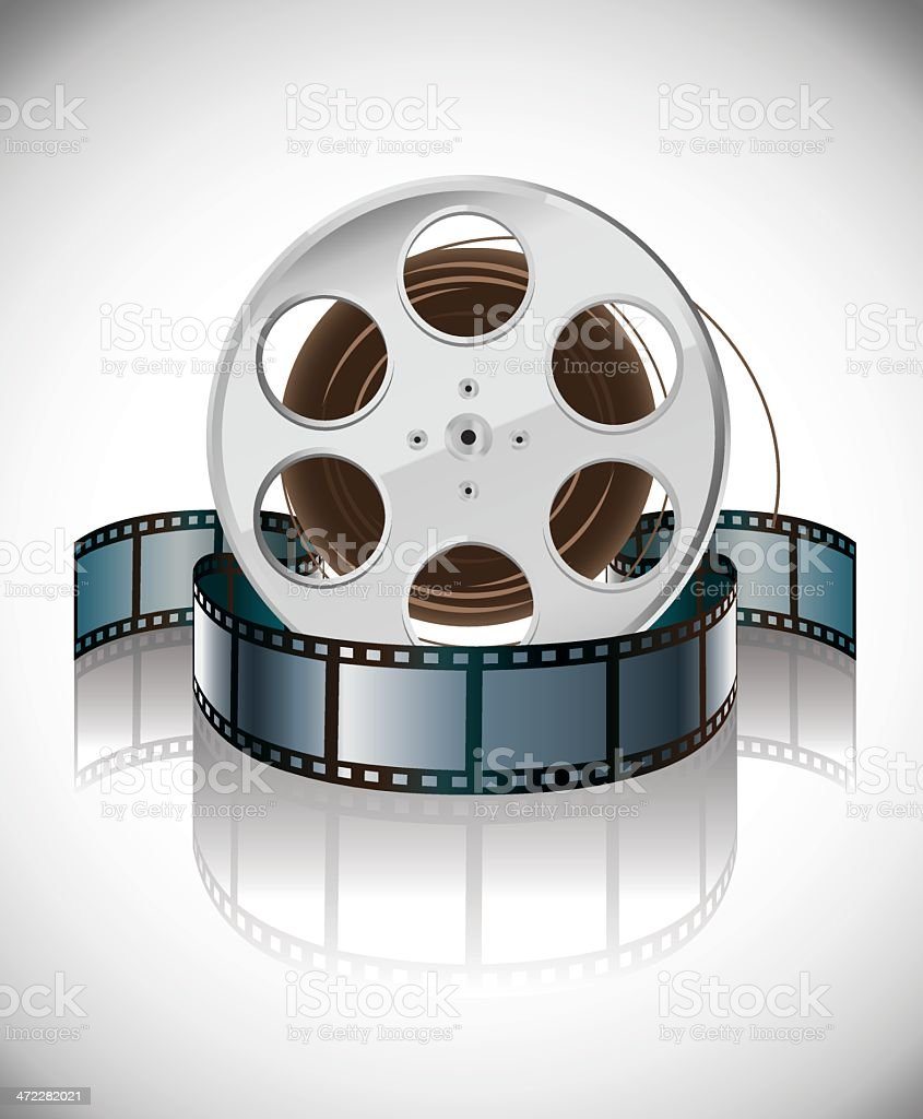 Reel and Film Strip royalty-free stock vector art