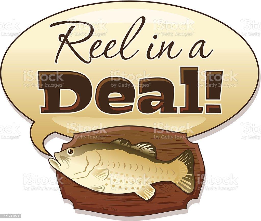 Reel Deal Heading C royalty-free stock vector art